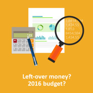 Don't forget maintenance improvement for left-over 2015 budgets and for 2016!