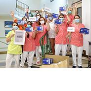 United against COVID-19, sending masks to nursing homes in France